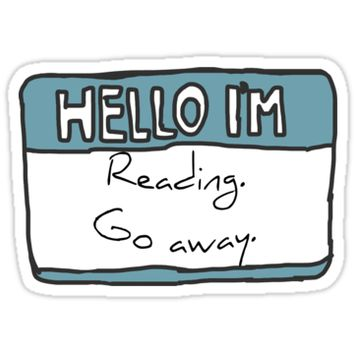'Hello I'm Reading' Sticker by Chloe Lamplugh