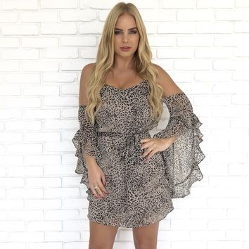 In The Jungle Cold Shoulder Dress