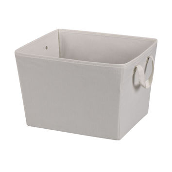 Household Essentials 311001 Canvas Medium Tapered Bin With Cloth Handles
