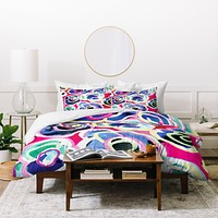 CayenaBlanca Flower Party Duvet Cover