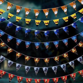 20PCS Halloween Party Decoration Garland Bunting Flags Pumpkin Home Mall Banner festival Pendant Props