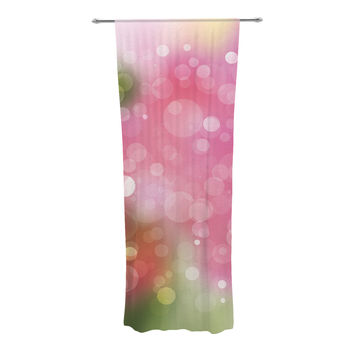 "KESS Original ""Gypsy"" Pink Bokeh Decorative Sheer Curtains"