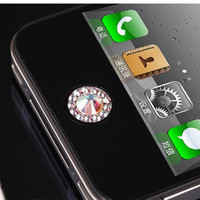 One Piece Rhinestone iPhone Home Button Sticker