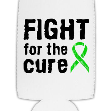 Fight for the Cure - Lime Green Ribbon Lyme Disease Collapsible Neoprene Tall Can Insulator