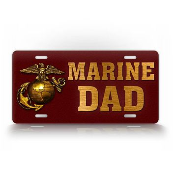 Americana Marine Dad USMC License Plate