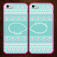 Best Friends iPhone 5 Case, aztec iphone case, Two Case Set, SALE