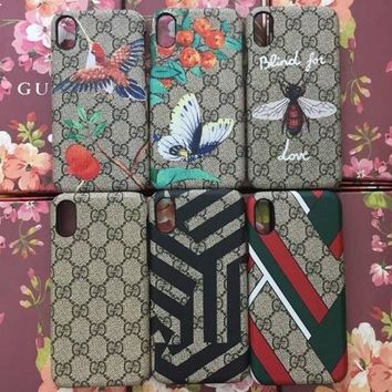 GUCCI Fashion Print iPhone Phone Cover Case For iPhone X-2