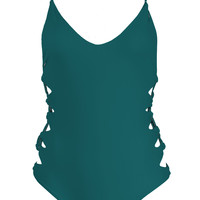 Acacia Swimwear || Florence one piece in seaweed