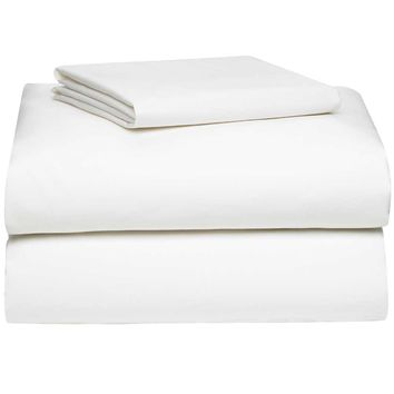 White College Classic 3-Piece Twin XL Sheet Set | San Francisco State University Dorm Bedding and Bath | OCM.com
