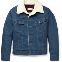 Maison Margiela - Faux Shearling-Trimmed Denim Jacket | MR PORTER