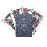 blue-toned Vintage Design deck of playing cards