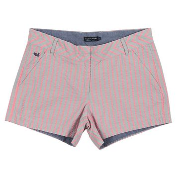 Turner Stripe Brighton Short in Light Gray by Southern Marsh - FINAL SALE