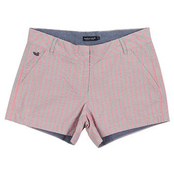 Turner Stripe Brighton Short in Light Gray by Southern Marsh