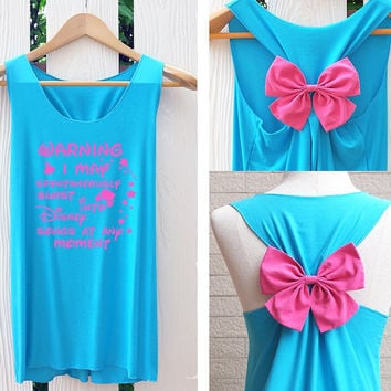 Cinderella disney princess Bow Tank Top. Racerback bow. Disney shirt. Cinderella Tank Top. Bachelorette Party Tank Tops. Work out tank top.