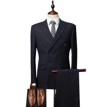 Men Double Breasted Suit