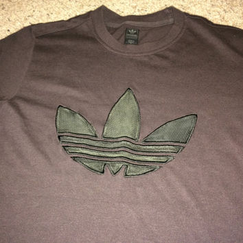 Sale!! Vintage Casual Adidas originals brown shirt retro tee trefoil cotton tops  Free US Shipping
