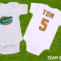 "College Football Gators Sports  ""Add Name & Number"" Choose Team"