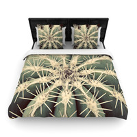 "Angie Turner ""Cactus"" Plant Woven Duvet Cover"