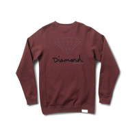 OG Brilliant Crewneck Sweatshirt in Burgundy