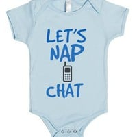 Nap Chat Baby Boy One Piece-Unisex Light Blue Baby Onesuit 00