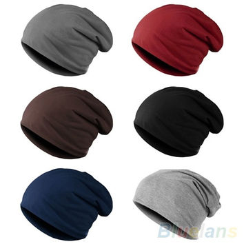Fashion Women's Men's Winter Slouch Crochet Knit Hip-Hop Beanie Ski Hat Cap = 1958107460