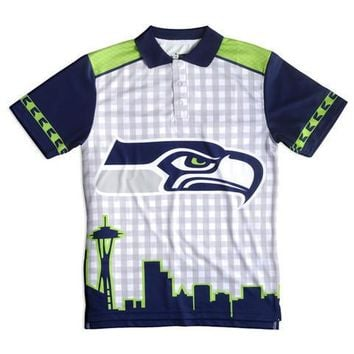 Seattle Seahawks Official NFL Thematic Polyester Polo Shirt