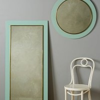 Lacquered Mirror by Anthropologie in Mint Size: