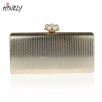 2017 Fashion Women Handbags Metal bling Shoulder Bags Ladies Print Day Clutch Party Evening Bags WY132