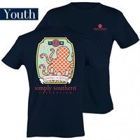 Simply Southern Octopus Youth Tee - Navy
