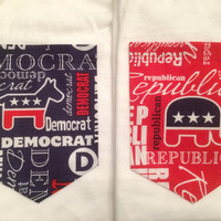 Political Pocket Tank, Tee, V-Neck, or Long Sleeve