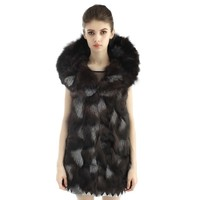 Aliexpress.com : Buy 2015 New Hot Autumn Winter Women's Fashion Sleeveless Fox Fur Coat Real Fur Jackets Free Shipping from Reliable coat jacket difference suppliers on Honey Baby Dress | Alibaba Group