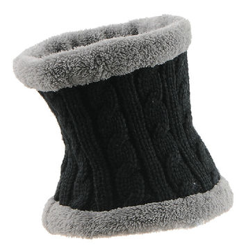 Winter Wool Neck Sets Plus Thick Velvet Warm Hat  Fashion