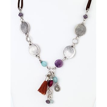 Coins Charms Tassel Long Necklace