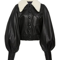 Leather Balloon Sleeve Jacket | Moda Operandi