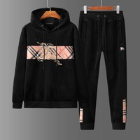 Burberry Men winter fashion printed sports suit