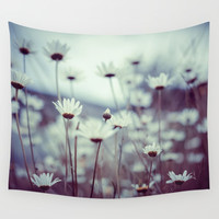 Do you suppose she's a wildflower? Wall Tapestry by Marie Carr