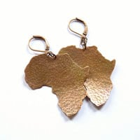 Africa earrings, hammered rustic copper earrings, metalwork dangle earrings, statement earrings
