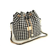 Small Hounds-tooth Shoulder Bag