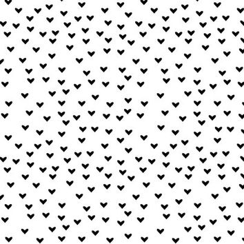 Little black hearts - boco_baby - Spoonflower
