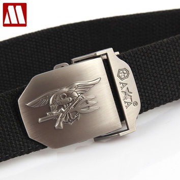 men women Casual belt NAVY SEAL thicken canvas military belt Army tactical belt high quality strap unisex automatic belts