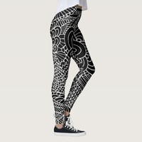 doodling art leggings