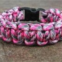 Pink Camo Paracord Survival Bracelet By Bostonred2010