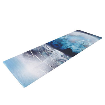 "Infinite Spray Art ""Surreal Falls"" Blue Planet Yoga Mat"
