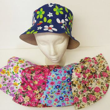 Assorted Floral Print Bucket Hats - CASE OF 72