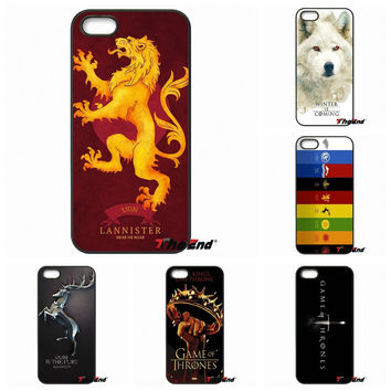 Luxury Game of Thrones House Emblems Logo Phone Case For Samsung Galaxy Note 2 3 4 5 S2 S3 S4 S5 MINI S6 Active S7 edge