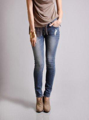 !iT Jeans Distressed Skinny Denim @ FrockCandy.com
