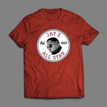 RAPPER/HIP HOP ARTIST JAY Z ALL STAR SPORTS WEAR PARODY T-SHIRT