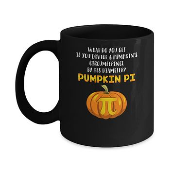 Math Teacher Funny Halloween Pumpkin Pi Mug
