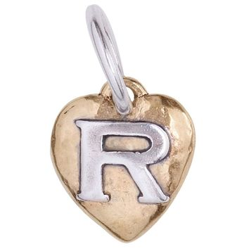 "Waxing Poetic Heartswell Insignia Letter ""R"" Charm"