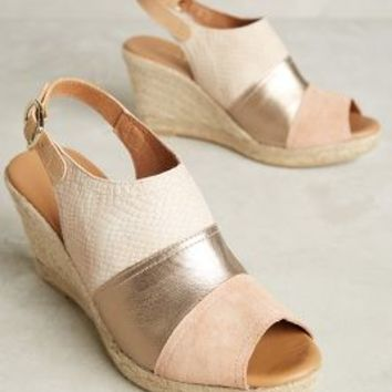 Maypol Colorblock Espadrille Wedges in Neutral Size: